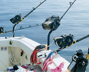 Kristal fishing rod mount reels for Electric fishing rod